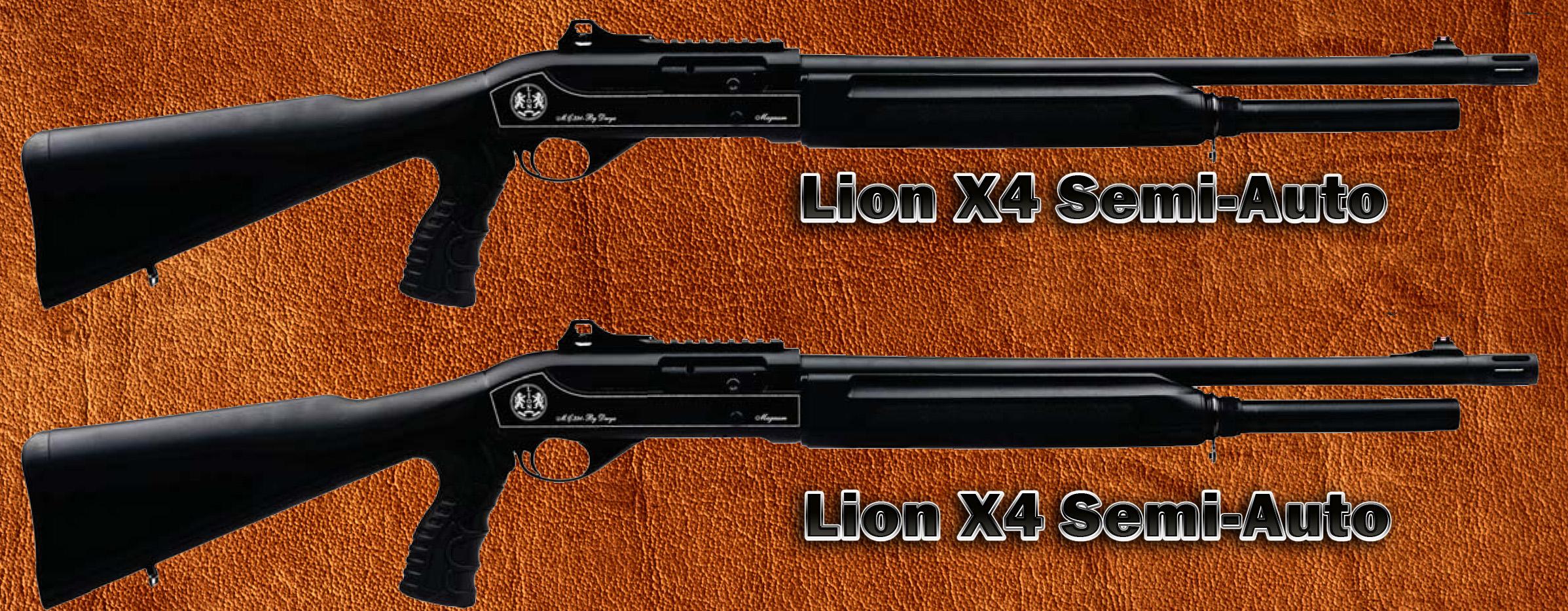 Lion X4 Tactical Semiautomatic Shotgun 12 gauge 3 inch ...